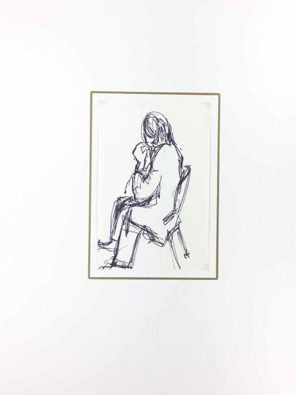 Paris, France Original Art - Ink - Paris Life, C.1980