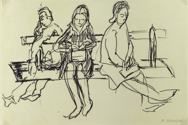 Paris, France Original Art - Pais Bench, JB Francher (1911-1974), C.1950