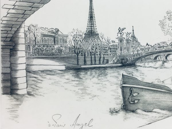 Paris, France Original Art - Port Alexandre III, 1990s