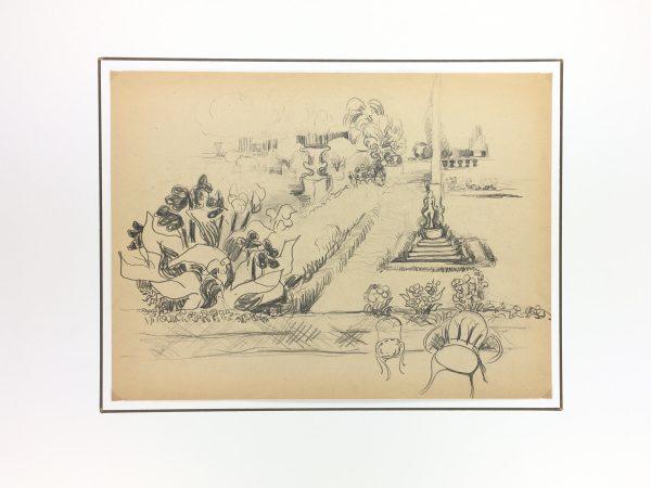 Paris, France Original Art - Luxembourg, Gromont, 1947