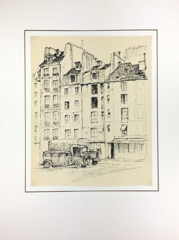 Paris, France Original Art - Paris, Andre Lafond, 1955