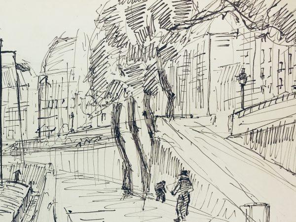 Paris, France Original Art - Paris, Shnerb, 1953