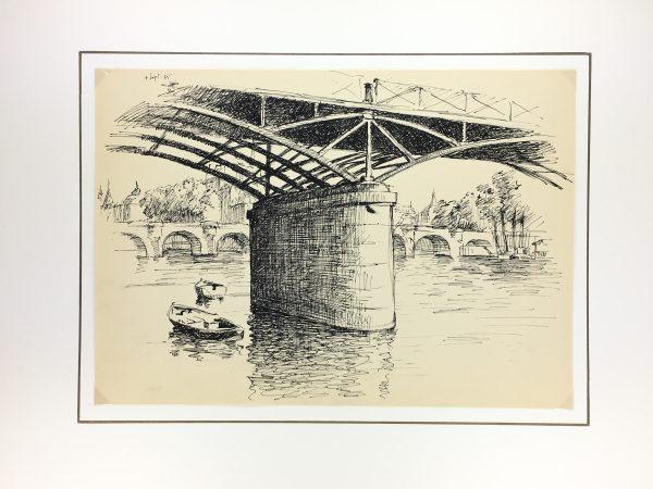 Paris, France Original Art - Port des Arts, Andre Lafond, 1955