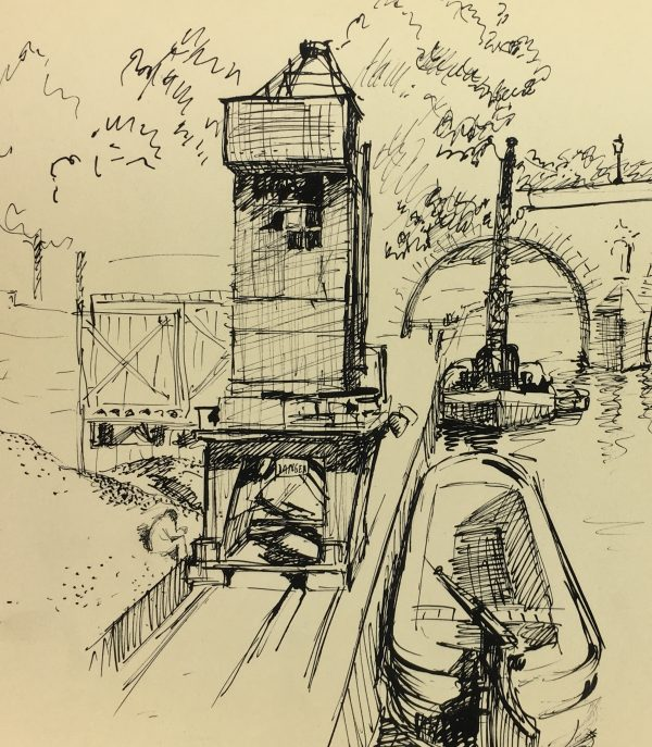 Paris, France Original Art - Port Neuf, Andre Lafond, 1955
