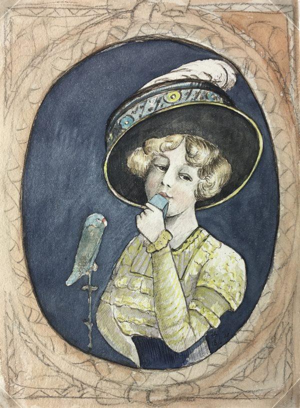 Portraits Original Art - Southern Belle, Les Voluptes, C.1890