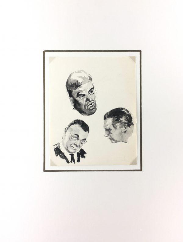 Portraits Original Art - Portraits, Werner Bell (1895-78), C.1960