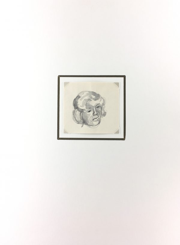 Portraits Original Art - Drawing, Werner Bell (1895-78), C.1960