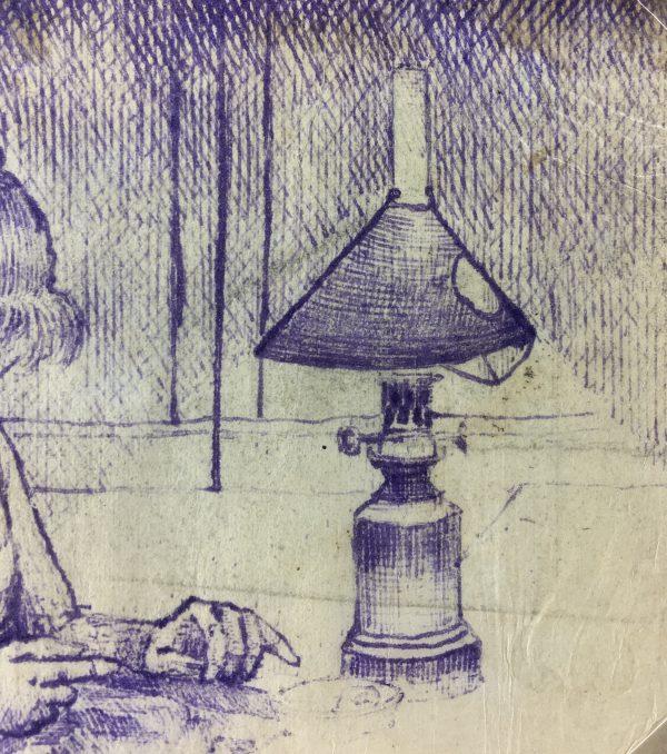 Portraits Original Art - Sewing, Emile Cravoisier, C.1930