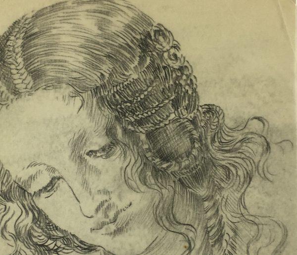 Portraits Original Art - Study, Sach, C.1920
