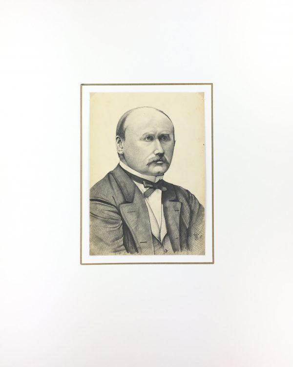 Portraits Original Art - Portrait, E. Wollenweber, 1873
