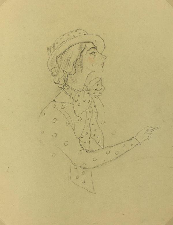 Portraits Original Art - Madame, Gabriel Spat (1890-1967), C.1930