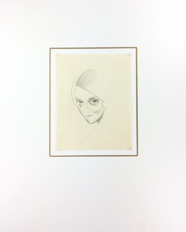 Portraits Original Art - Le Regard, Gabriel Spat, C.1930