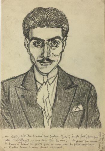Portraits Original Art - Artist Self Portrait, Albert Viale, 1935