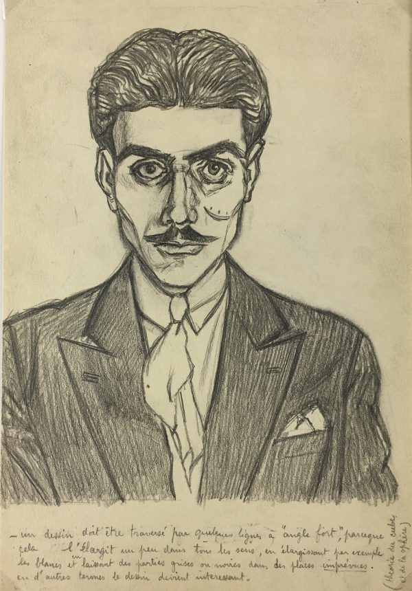 Portraits Original Art - Artist Self Portrait, Albert Viale, 1935