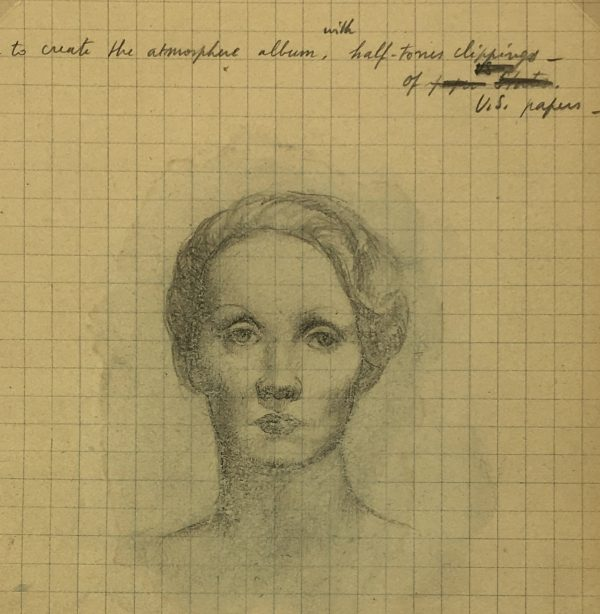 Portraits Original Art - Artist's Notes, Albert Viale, 1937