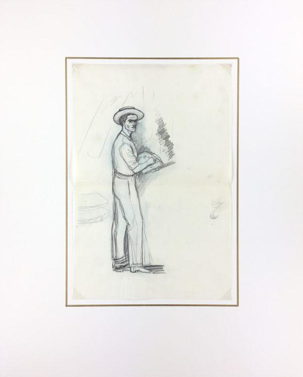 Portraits Original Art - Artist Self Portrait, Albert VIale, C.1930