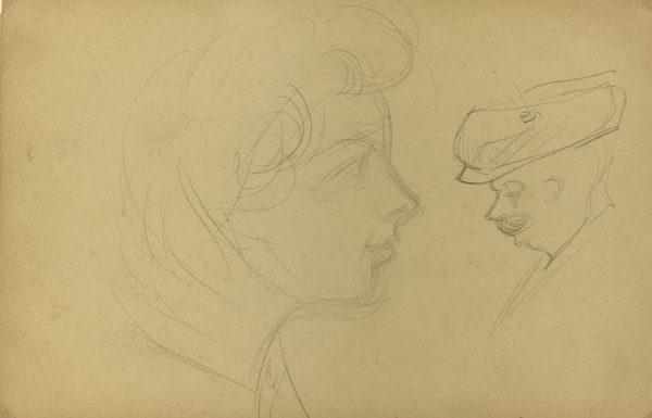 Portraits Original Art - French Portrait, Germaine Barbier, C.1915