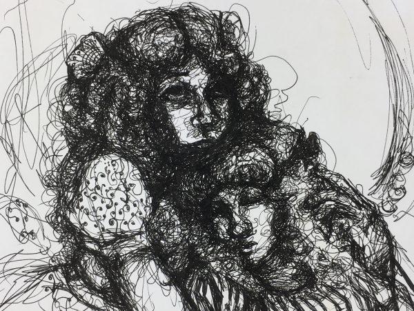 Portraits Original Art - Mujeres, Christian Kuk, 2012