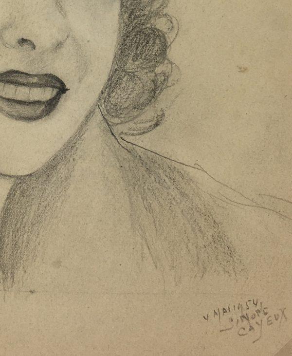 Portraits Original Art - Portrait, Cayeux, 1954