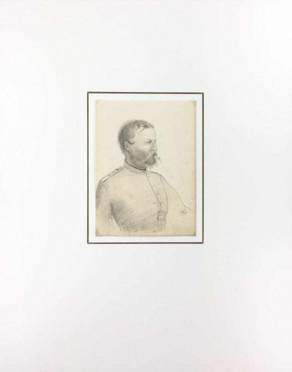 Portraits Original Art - Military Portrait, C.1880