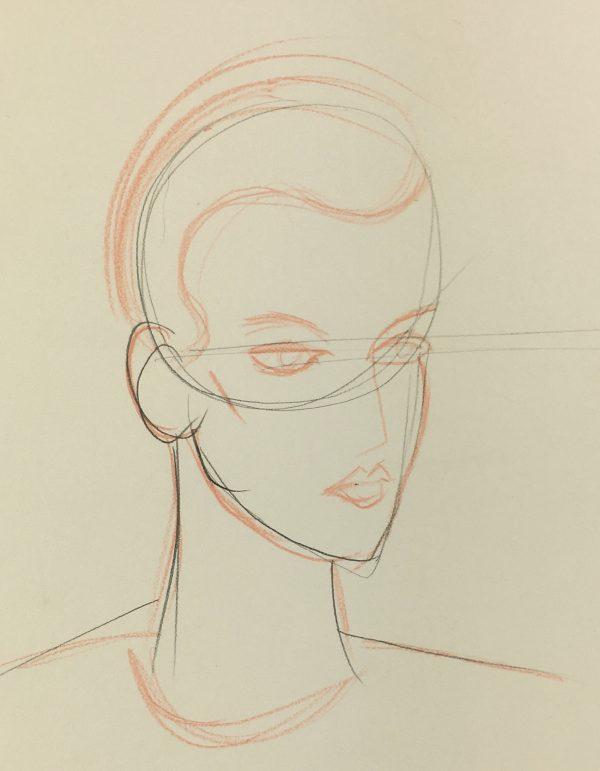 Portraits Original Art - Sketch, C.1980