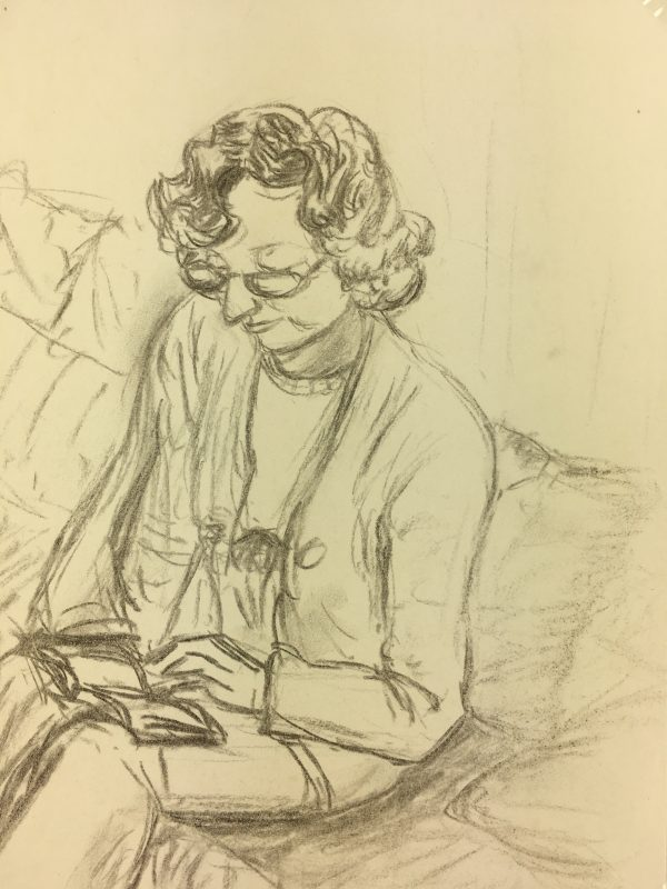 Portraits Original Art - Reader, C.1970