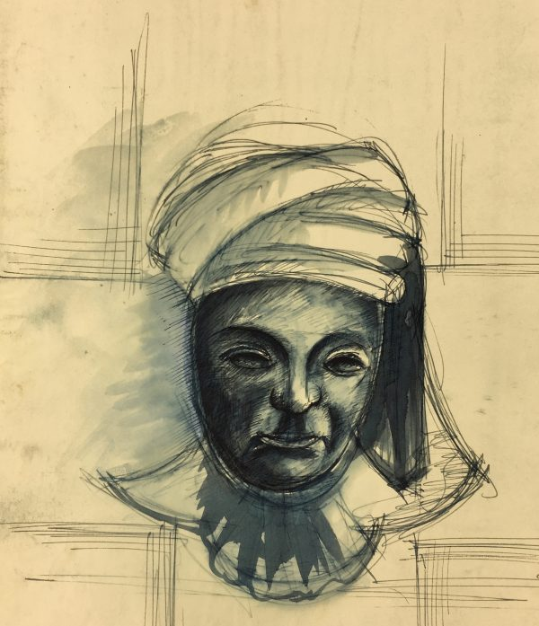Portraits Original Art - Blue Figure, C.1930
