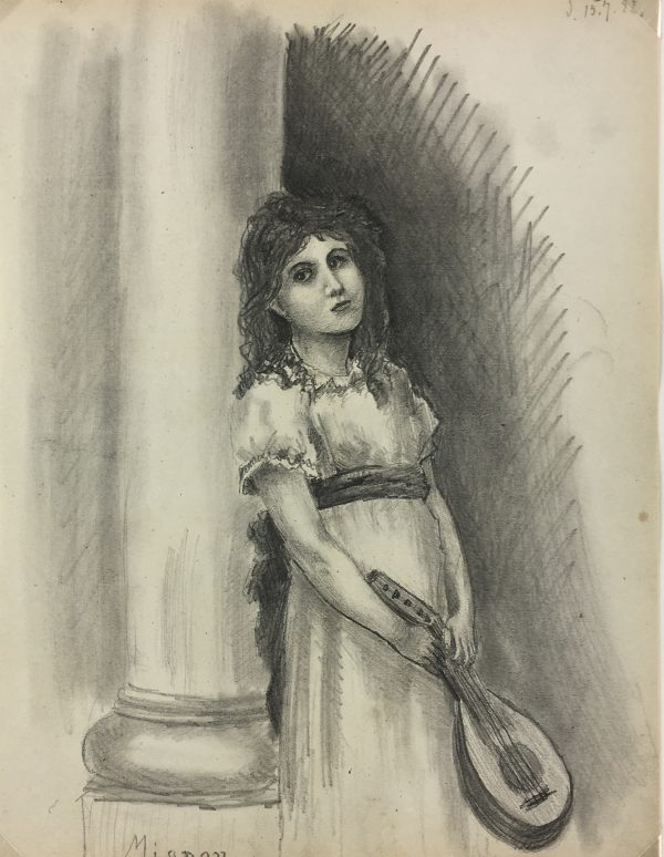 Portraits Original Art - Young Lady, C.1892