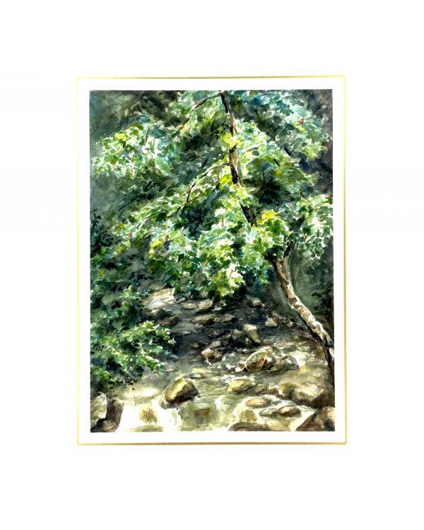 Rivers Original Art - Creekside, French, C.1940