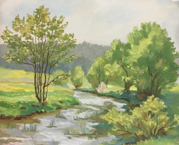 Rivers Original Art - Landscape, Hans Rattel, 1929