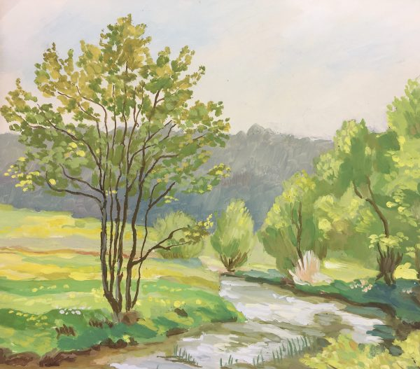 Rivers Original Art - Landscape, Hans Rattel, 1929