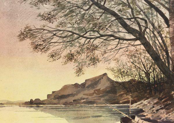 Rivers Original Art - Quiet Dusk, C.1940