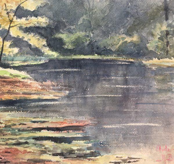Rivers Original Art - Souls Bois, M. Balestié, C.1930