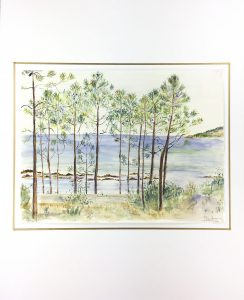Seascapes Original Art - Coastline Trees, 1990