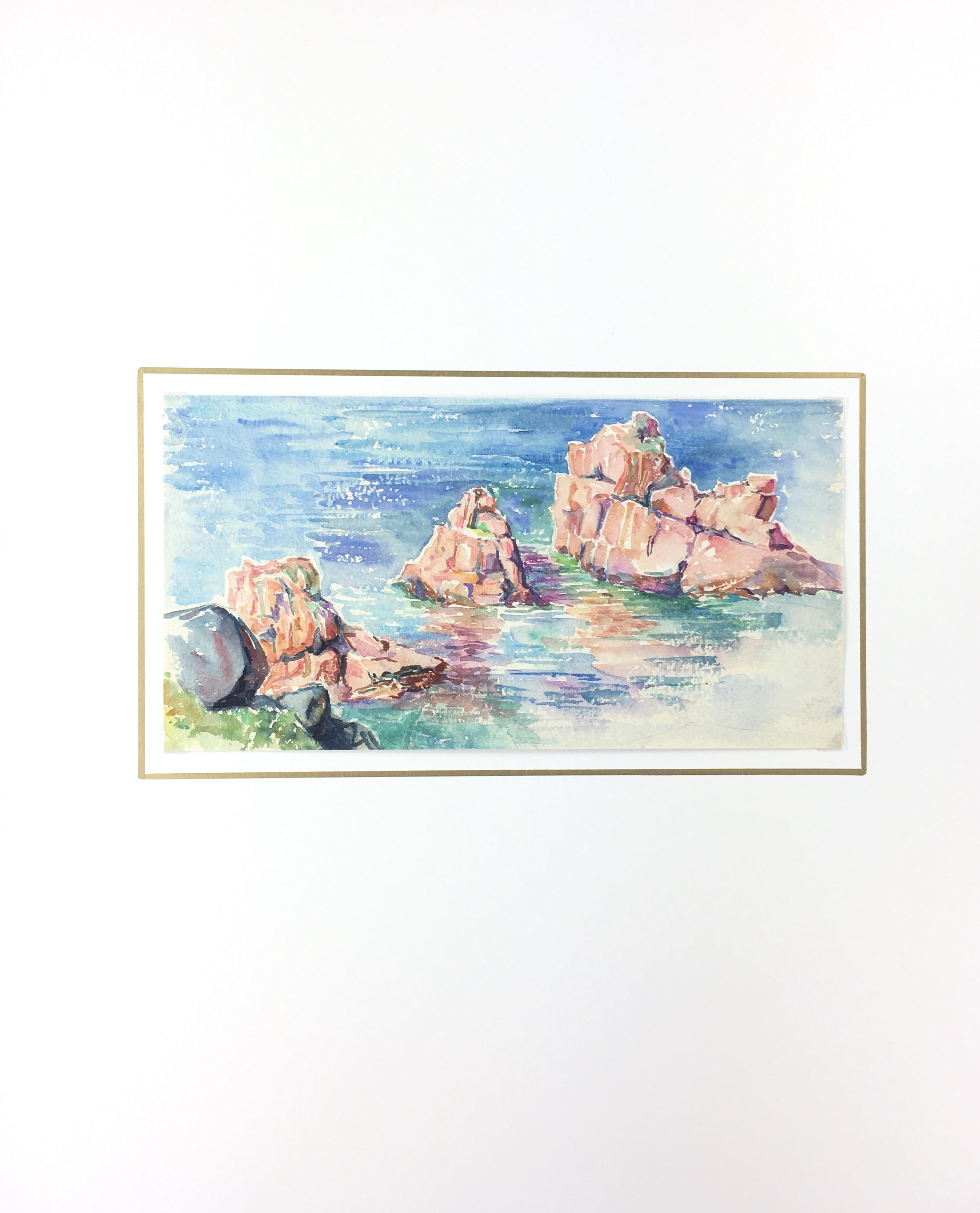 Seascapes Original Art - Rocky Shore, c.1960