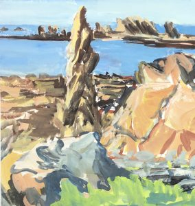 Seascapes Original Art - Rocky Coast, c.1950