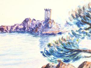 Seascapes Original Art - Sardinia, J. Aguillaume, 1978