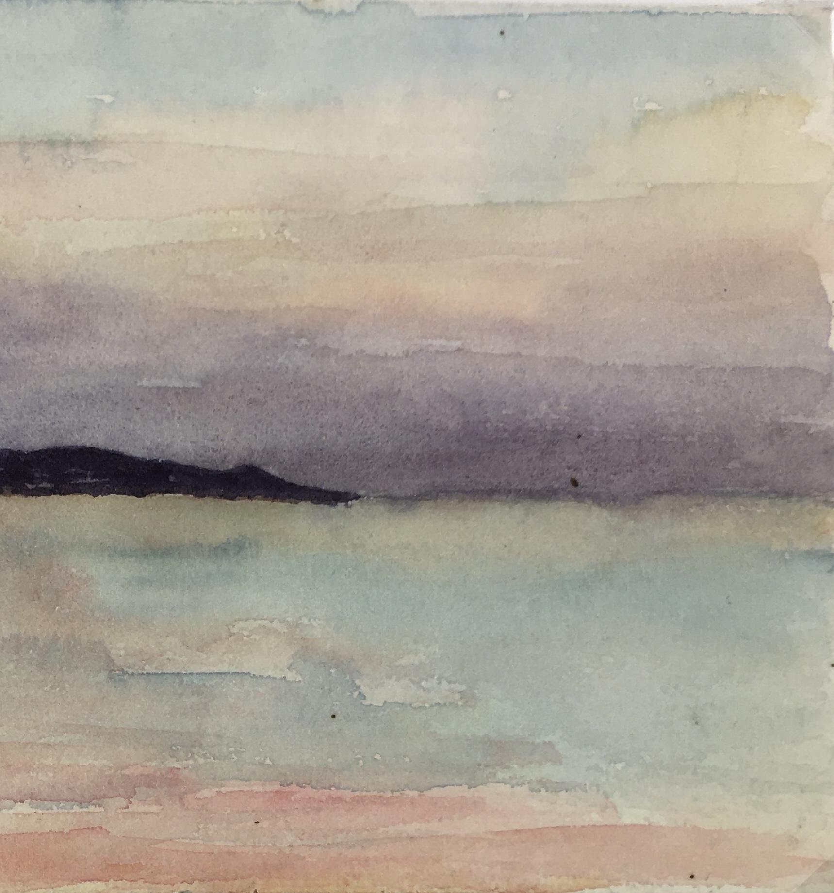 Seascapes Original Art - Sunset, A. Collet, c.1920