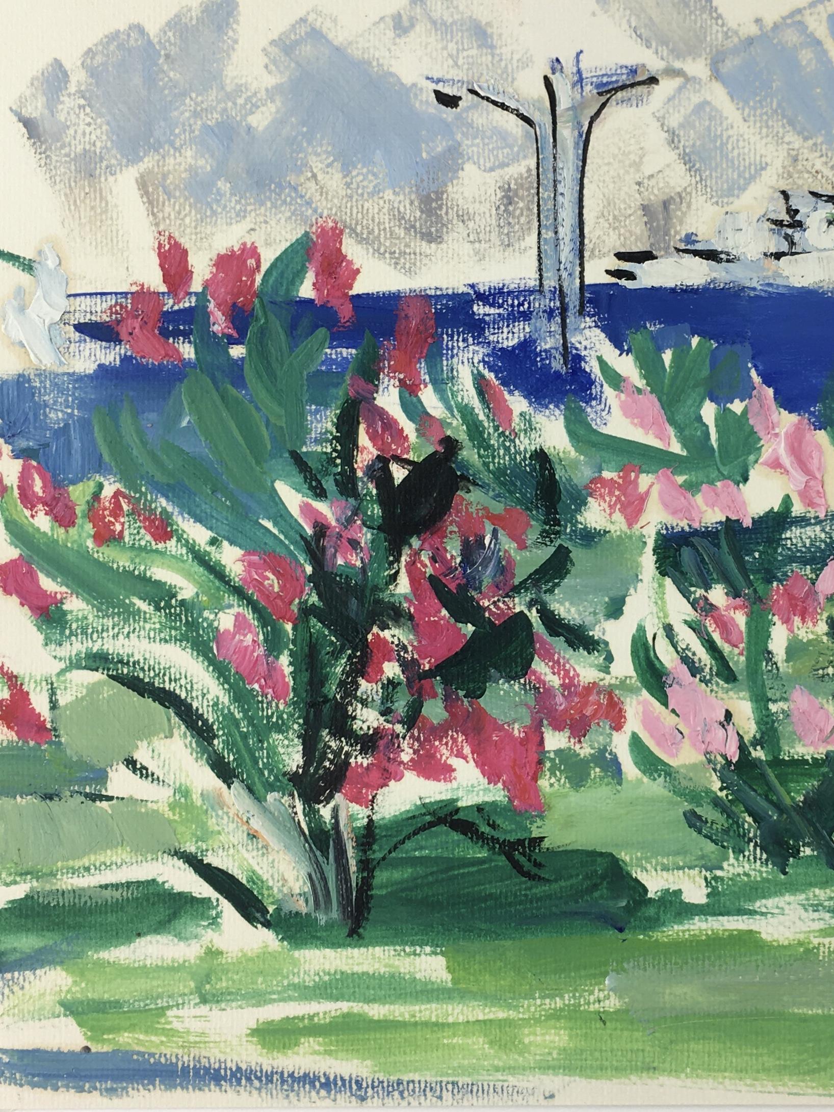 Seascapes Original Art - Among Blooms, Odette Bruriaux 1923-03), 1960