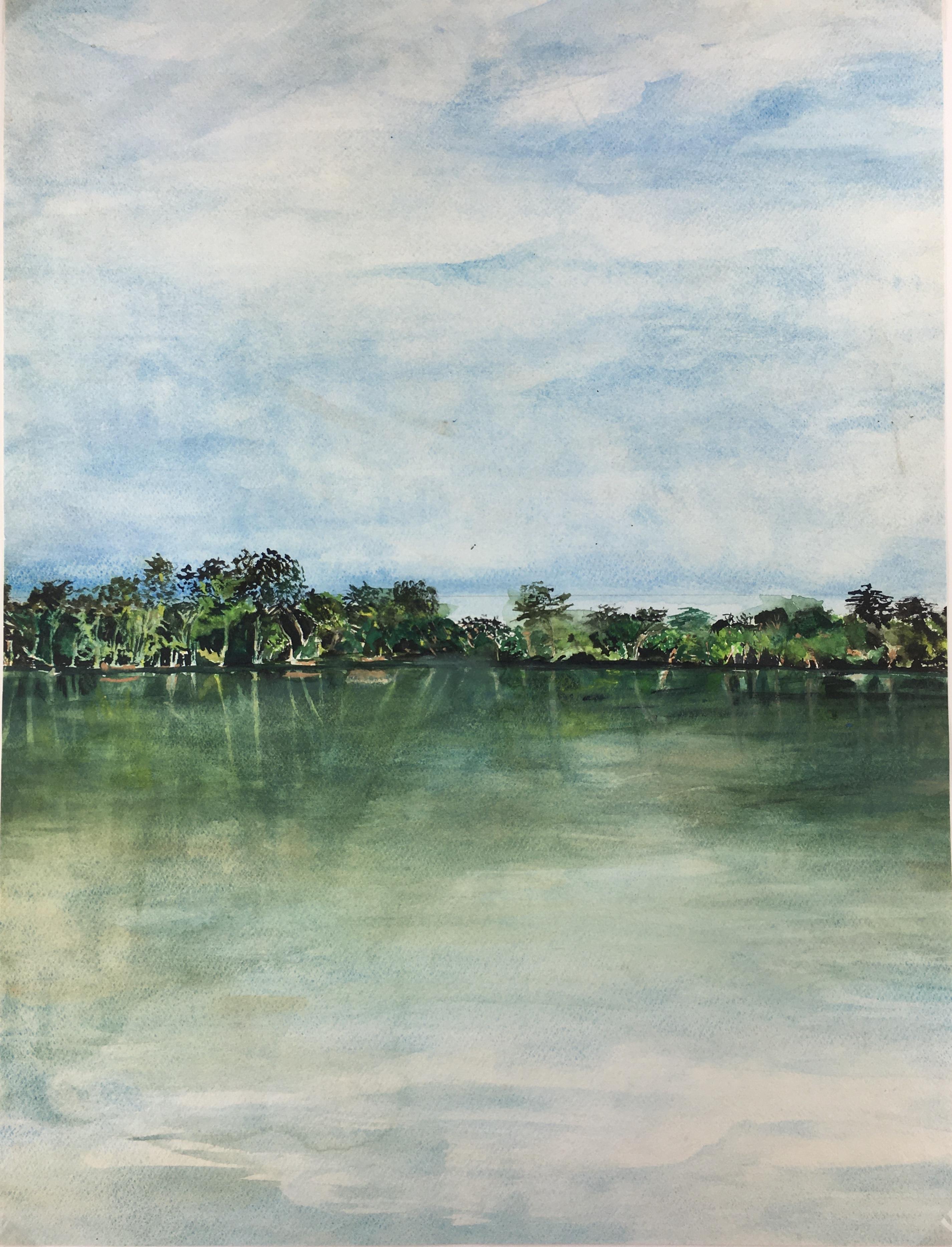 Seascapes Original Art - Island Green, 1990