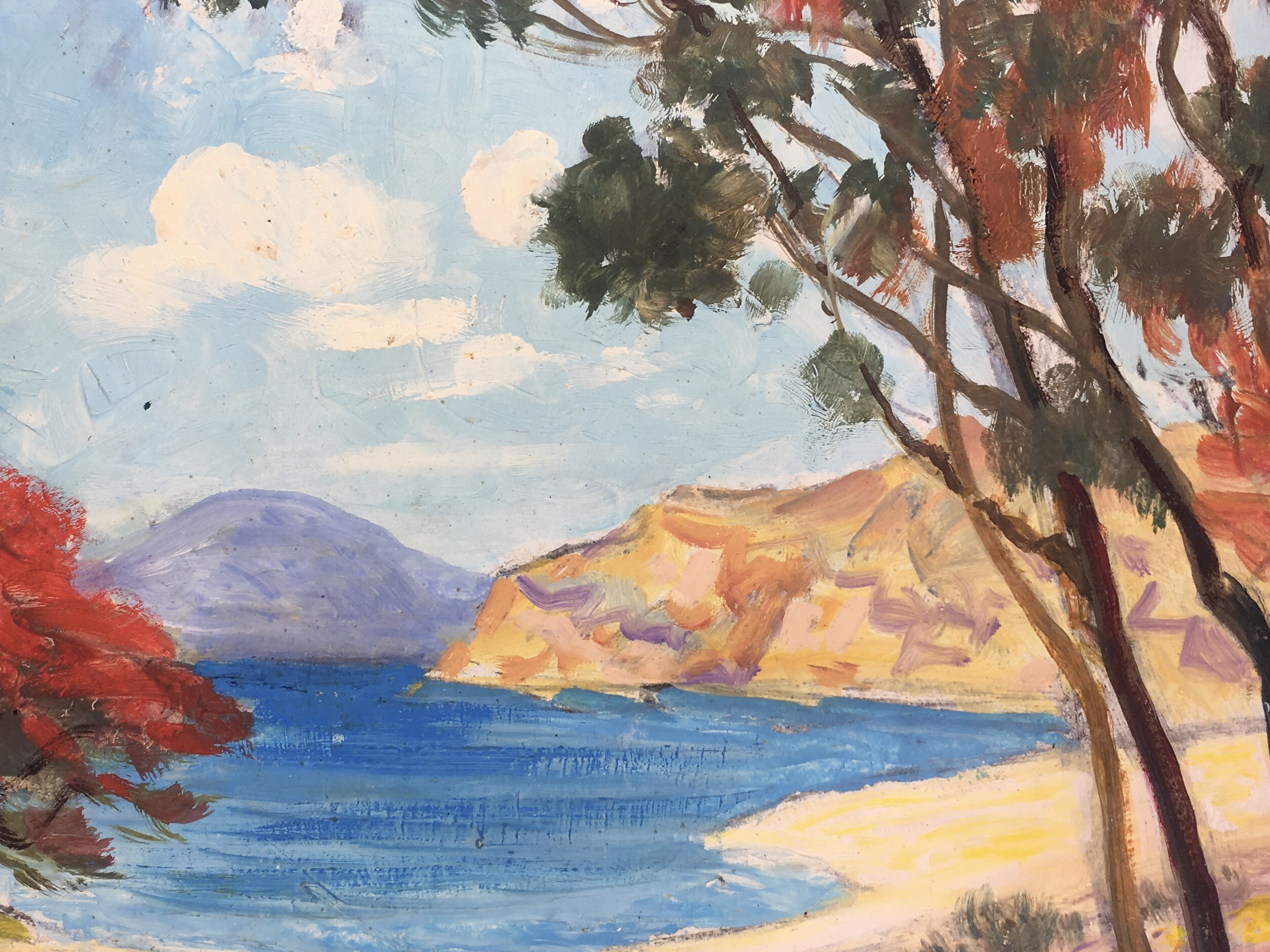 Seascapes Original Art - Serene Beach, c1960