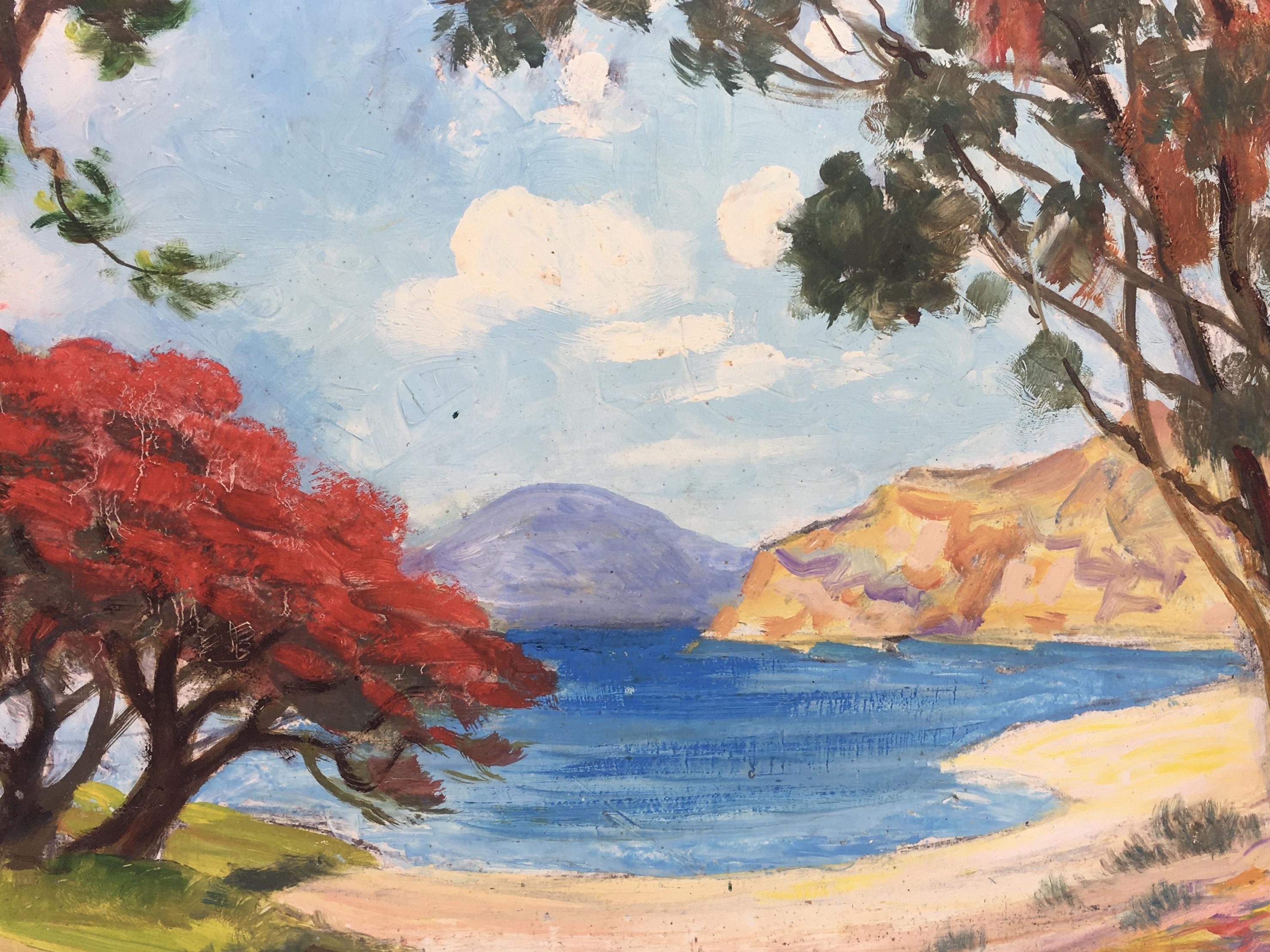 Seascapes Original Art - Serene Beach, c1960