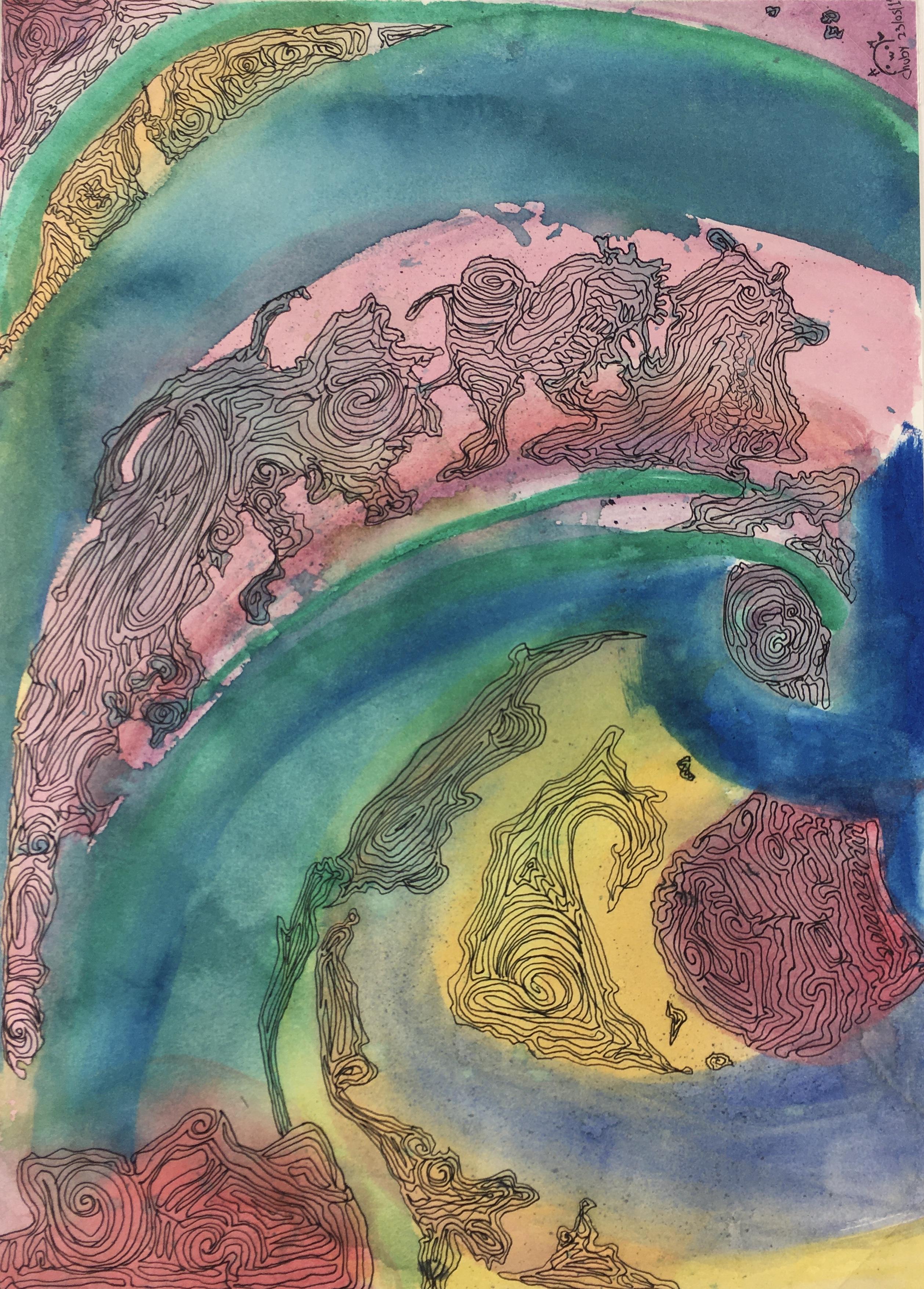 Surreal Modern Original Art - Suenos, Chuby, 2012