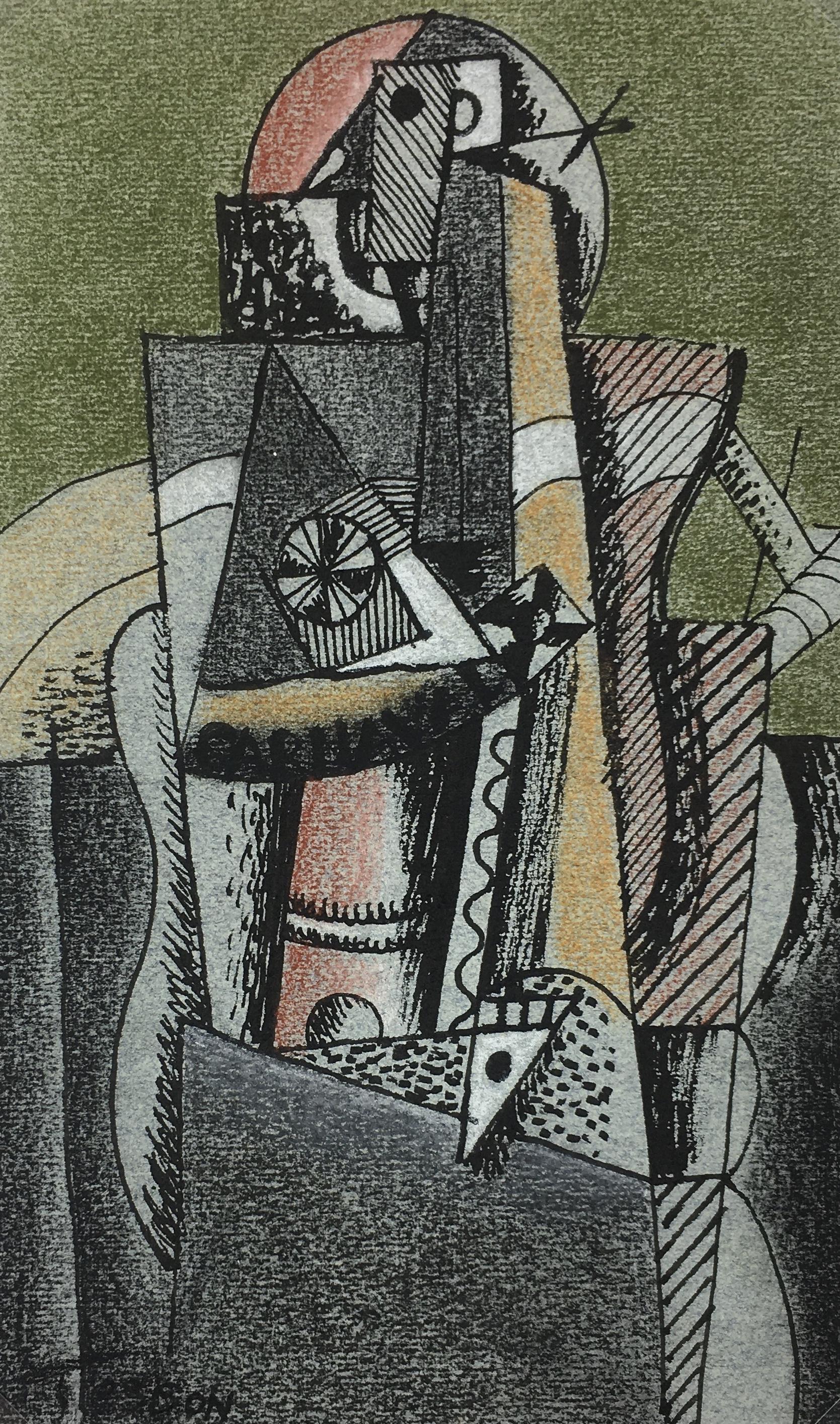 Surreal Modern Original Art - Abstract, Tesson, 1996