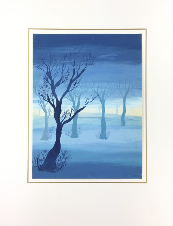 Surreal Modern Original Art - Landscape, C.1960