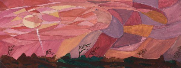Surreal Modern Original Art - Abstract, G. Lewkow, C.1950