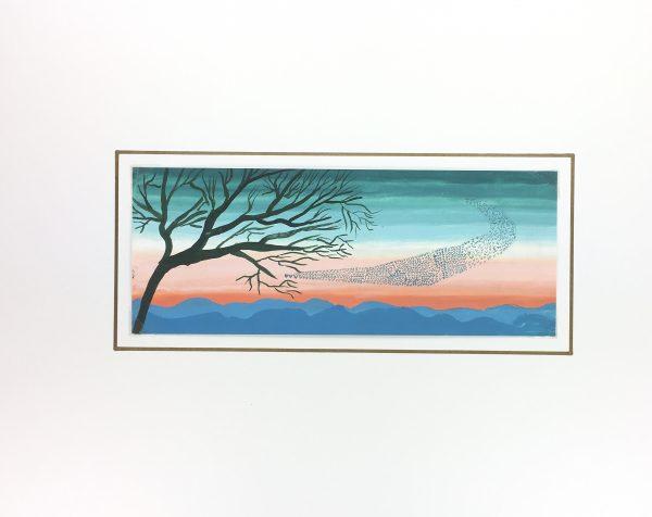 Surreal Modern Original Art - Birds, G. Lewkow, C.1950
