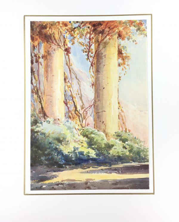 Trees Original Art - Forest at Dusk, C.1950