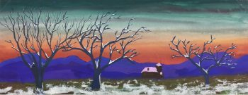 Trees Original Art - Winter Spell, G. Lewkow, C.1950