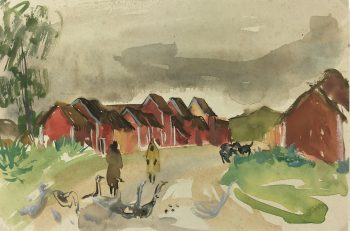 Towns Original Art - Madagascar, S. Magnard (1917-2010), 1950-1953